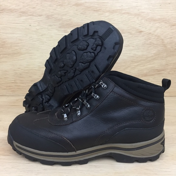 236671ded49 Timberland Boys Hiking Boots Size 6.5Y Youth Brown NWT